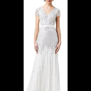 Adrianna Papell Beaded V-neck Gown 09286895 Wedding Dress