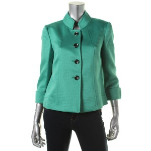 Tahari Textured Green Blazer
