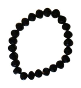 Anna's Art Black Crystals Stretch Bracelet