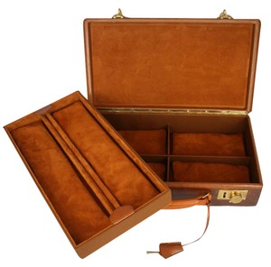 Hermès RARE HERMES LEATHER JEWELRY CASE VINTAGE 1920s, BEAUTIFULLY RESTORED