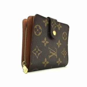 Louis Vuitton France Monogram Canvas Classic Zip Compact Bifold Wallet