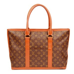 Louis Vuitton Sac Weekend Totes Laptop Monogram Canvas Brown Travel Bag