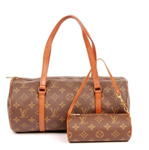 Louis Vuitton Papillion Cosmetic Case Vitnage Monogram Canvas Satchel