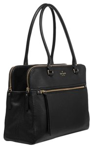 Kate Spade Cobble Hill Pebbled Leather Satchel in Black