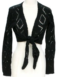 525 America Cropped Tie Cut-out Cardigan