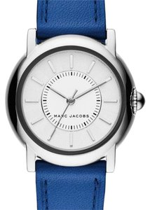 Marc Jacobs Marc Jacobs courtney blue leather silver watch