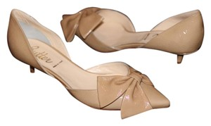 Butter Wedding Patent Leather Heel Nude Pumps