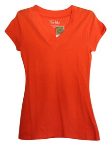 Other Nwt Juniors Medium V-neck Salmon T Shirt Bright Salmon