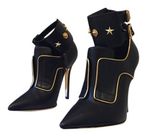 Versace Studded Gold Black Boots