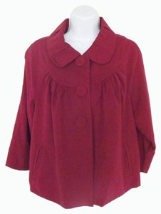 Mossimo Supply Co. Swing Large Ladies Cabernet Red Jacket