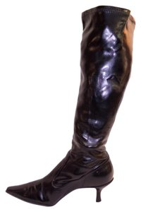 Audrey Brooke Womens Knee Stretch 9 black Boots