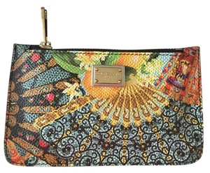 Dolce&Gabbana Dolce & Gabbana Multicolor Fan Print Coin Purse Key Pouch