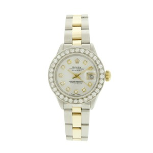 Rolex Rolex Datejust 26mm White Diamond MOP Dial Oyster Band Two Tone Watch