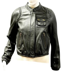Chloé Chloe Biker Leather Lambskin black Leather Jacket