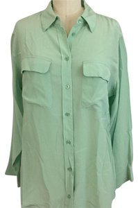 Equipment Button Down Shirt Mint