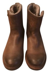 Frye Leather Shearling Short Boots
