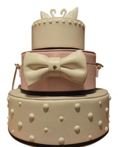 Kate Spade Wedding Bride Cake Satchel in Pink White