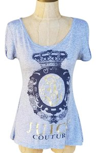 Juicy Couture #juicycouture #aline #flowy #emblem #heathergray T Shirt Heather Gray & Navy Blue