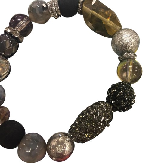 Preload https://item1.tradesy.com/images/black-silver-and-clear-bracelet-20617335-0-1.jpg?width=440&height=440