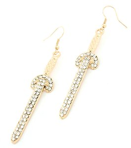 Other Gold and Rhinestone Earrings