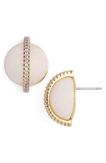 Preload https://img-static.tradesy.com/item/20617424/rachel-zoe-white-stell-pave-dome-stud-earrings-0-0-540-540.jpg