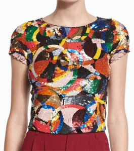 Alice + Olivia Top Red multicolor