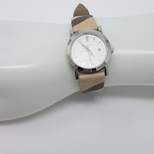 Burberry Stainless steel 28mm Burberry plaid print strap watch