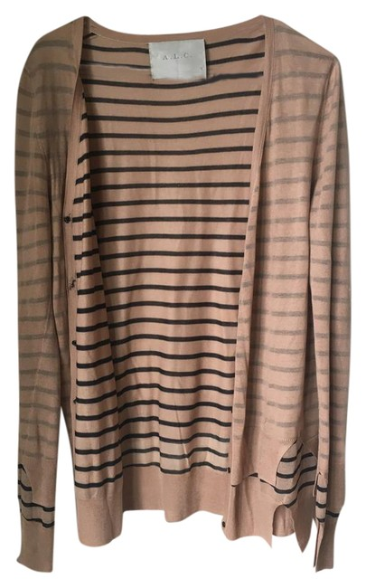Preload https://item4.tradesy.com/images/alc-light-pinkneutral-and-navy-stripes-cardigan-size-10-m-20617438-0-1.jpg?width=400&height=650