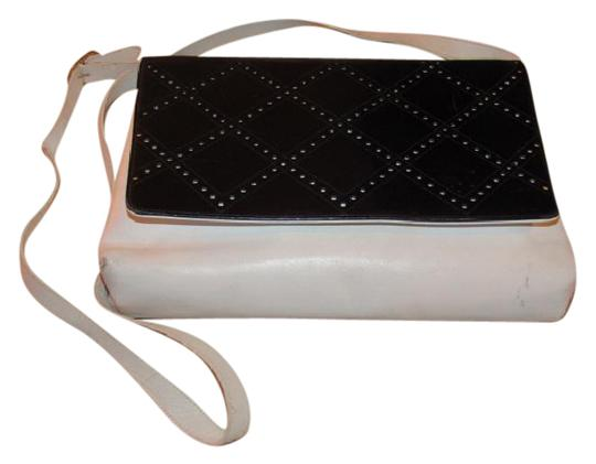 Preload https://item3.tradesy.com/images/salvatore-ferragamo-vintage-pursesdesigner-purses-white-leather-with-black-leather-perforated-design-20617497-0-1.jpg?width=440&height=440