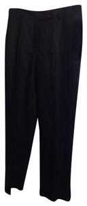 Rafaella Linen Linned Trouser Pants Black