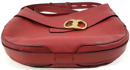 Tory Burch Magnetic Closure Adjustable Strap Strap Leather Imported Hobo Bag