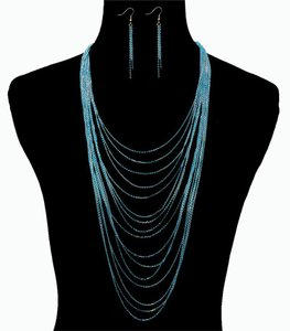 Other Colored Layered Chain Necklace Set