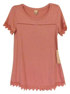 Cover Stitched Nwt Pink Small Tunic
