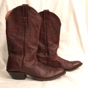 Nocona Cowboy Leather Western Brown Boots