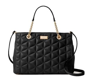 Kate Spade Quilted Leather Convertible Soft Leather Strap Leather Cross Body Bag