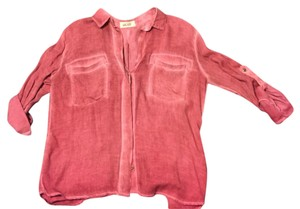 Bella Dahl Button Down Shirt A washed pink color