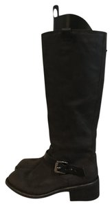 Rag & Bone Knee High And And Knee High And 7.5 Black Waxy Suede Boots