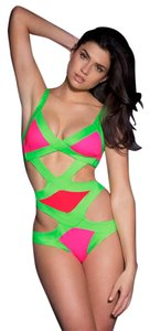 Agent Provocateur New Agent Provocateur Mazzy Bandag Swimsuit Bikini Bathing Suit Green