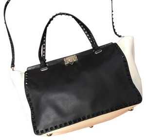 Valentino Tote in Black and Ivory