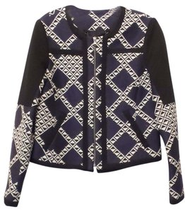 Trina Turk Alvera Jacket New New Tags Blue, black, white Blazer