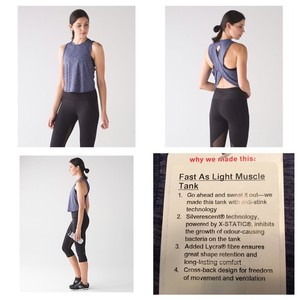 Lululemon Fast as Light Muscle Tank- Blue