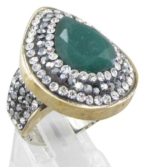 Preload https://img-static.tradesy.com/item/20617912/gold-green-925-silver-vintage-antique-finish-emerald-amp-topaz-2-tone-drop-ring-ring-0-1-540-540.jpg