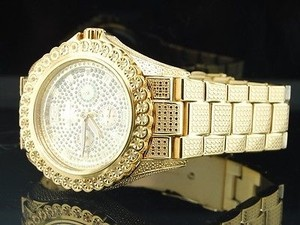 IceTime Mens Icetime Bling 1 Row Diamond Watch Joe Rodeo Jojo Illusion Band
