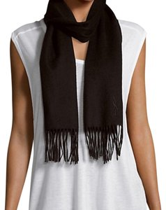 Saint Laurent wool & cashmere fringed scarf