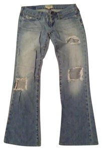 Abercrombie & Fitch Boot Cut Jeans-Distressed