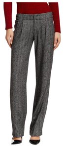 Alice + Olivia Straight Pants Gray / Black