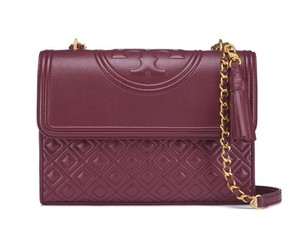Tory Burch Fleming Covertible Lambskin Shoulder Bag