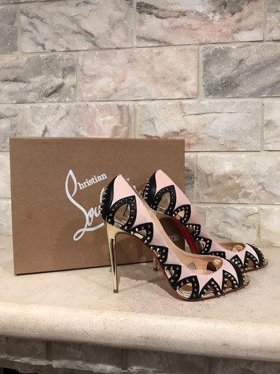 Christian Louboutin Circus City Stiletto Spike Suede gold Pumps