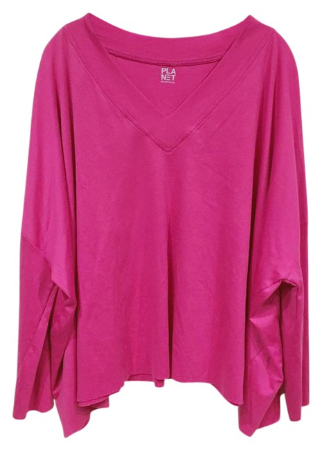 Preload https://img-static.tradesy.com/item/20618111/pink-one-fits-all-blouse-size-14-l-0-1-650-650.jpg