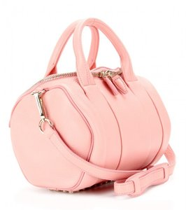 Alexander Wang Studded Gold Rockie Tote in Soft Pebbled Matte Pink